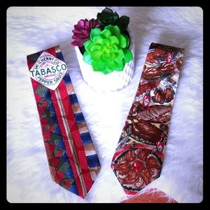 🌶2 Tabasco Pepper Sauce Ties🌶